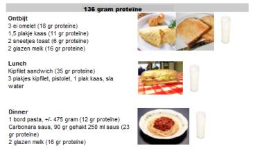 proteine voorbeeld